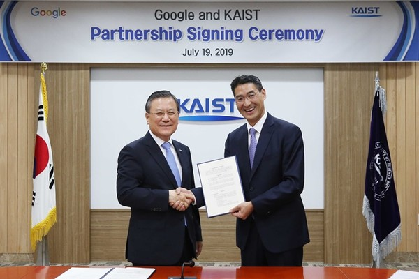 President Sung-Chul Shin signed a partnership agreement with Google earlier this year